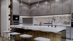 Kitchen set custom gaya modern