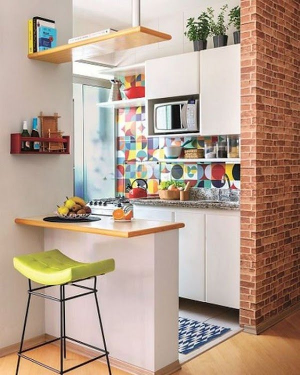 Kitchen yang colourful